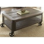 Modern Brown Lift Top Coffee Table with Wheels – Barrow