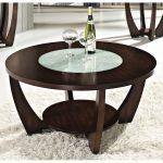 Modern Brown Round Coffee Table – Rafael