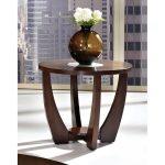 Modern Brown Round End Table – Rafael