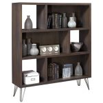 Modern Contemporary Milk Chocolate Brown Bookcase – Studio