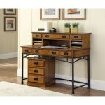 Modern Craftsman Desk, Hutch, and Mobile File
