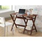 Modern Dark Brown Writing Desk