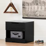 Modern Farmhouse Black Oak Nightstand – Holland
