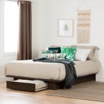 Modern Farmhouse Brown Full-Queen Size Platform Bed – Holland