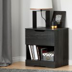 Modern Farmhouse Gray Oak Nightstand – Holland