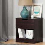 Modern Farmhouse Red-Brown Oak Nightstand – Holland