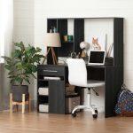Modern Gray Oak Desk and White Office Chair – Annexe