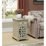 Modern Ivory White End Table – Kevin