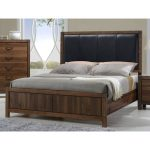 Modern Rustic Brown Queen Upholstered Bed – Belmont