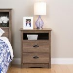 Modern Rustic Drifted Gray Nightstand – Salt Spring