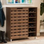 Modern Shoe Cabinet with Open Shelf