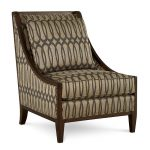 Modern Traditional Ogee-patterned Gold Accent Chair – Intrigue