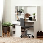 Modern White Oak Desk and Gray Office Chair – Annexe