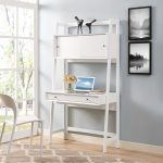 Modern White Writing Desk – Landon