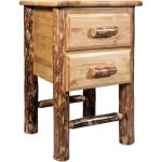 Montana Woodworks 2-Drawer Nightstand – Glacier Country