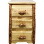 Montana Woodworks 3-Drawer Nightstand – Glacier Country