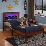 Montgomery Espresso Twin LightHeaded Bed
