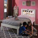 Montgomery White Twin LightHeaded Bed