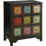 Multi-Color 3 Drawer Bohemian Chest