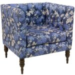 Mum Blue Ground Tufted Arm Chair