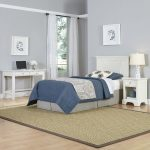 Naples White Twin Headboard, Nightstand, and Student Desk