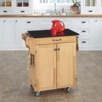 Natural/Black Granite Kitchen Cart