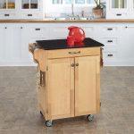 Natural/Black Granite Kitchen Cart