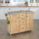 Natural/Gray Granite Kitchen Cart