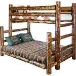 Natural Log Twin-over-Full Bunk Bed – Glacier Country