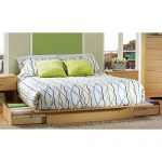 Natural Maple Queen Platform Bed – Step One