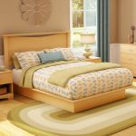 Natural Maple Queen Platform Bed with Headboard – Step One