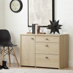 Natural Maple Storage Unit with File Drawer – Interface