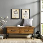 Natural Pine Entryway Bench – Roots