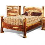 Natural Pine Rustic King Size Bed – Tahoe