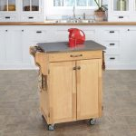 Natural/Stainless Kitchen Cart