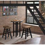 Natural and Black 3 Piece Pub Set- Gateway Collection