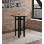 Natural and Black Pub Table – Gateway Collection