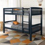 Navy Blue Twin-Over-Twin Bunk Bed – Dakota