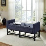 Navy Upholstered Bench – Claremont