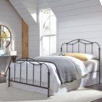 Nickel Classic Contemporary King Metal Bed – Braylen