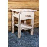 Nightstand with Drawer & Shelf – Montana