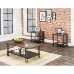 Oak 3 Piece Coffee Table Set – Roma