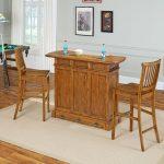 Oak Bar & Two Barstools – Americana