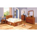 Oak Full Platform Bed – Greece