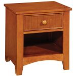 Oak Single Drawer Nightstand