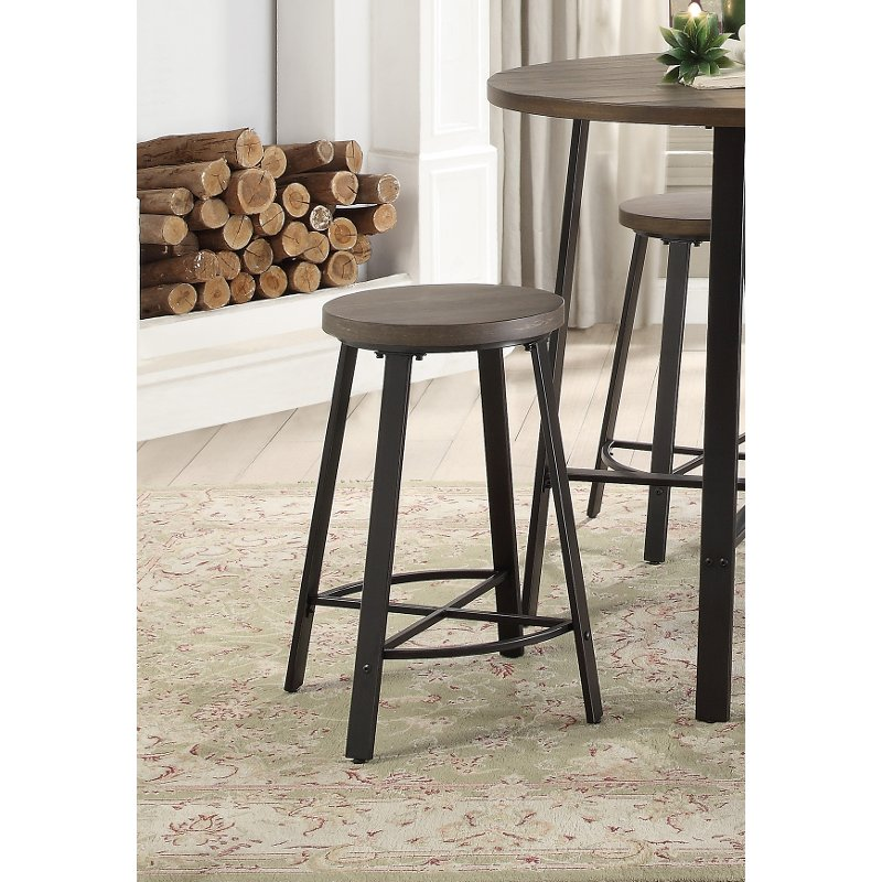 Phenomenal Oak And Metal 24 Inch Counter Stool Chevre Everything Cjindustries Chair Design For Home Cjindustriesco
