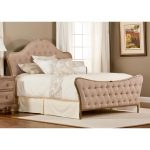 Oatmeal Upholstered Queen Size Bed – Jefferson
