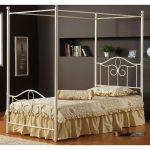 Off-White Cottage Metal Twin Canopy Bed – Westfield