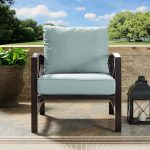 Oiled Bronze Outdoor Patio Arm Chair – Kaplan