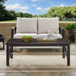 Oiled Bronze Outdoor Patio Coffee Table – Kaplan